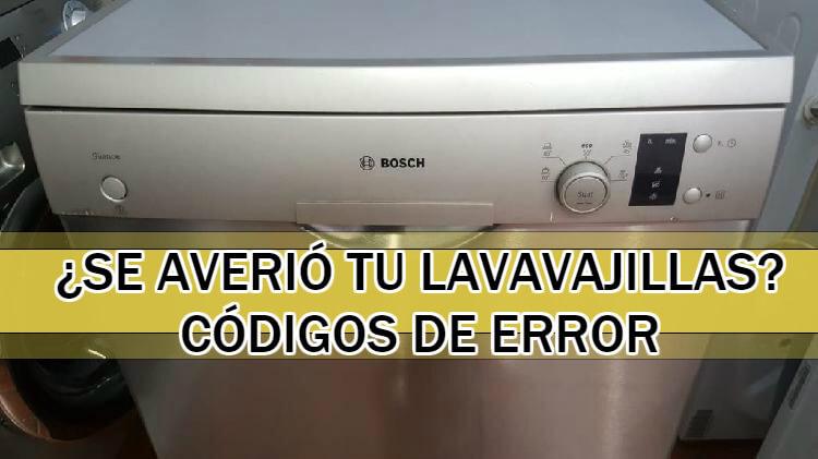 codigos error lavavajillas bosch